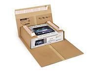 Etui postal carton brun à fermetures adhésives Rajabook Pro
