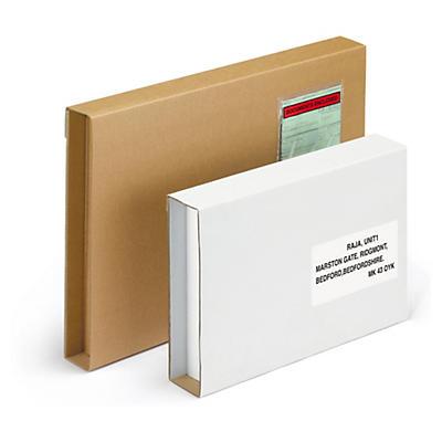 Etui postal carton brun petite cannelure avec fermeture adhésive RAJA Standard format A3