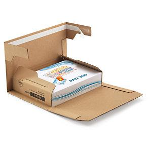 Étui postal carton brun renforcé avec fermeture adhésive RAJA