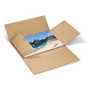 Etui postal carton brun simple cannelure qualité standard format A3