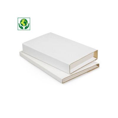 Étui postal pour livres avec fermeture adhésive - blanc##Boekverpakking met zelfklevende sluiting - wit