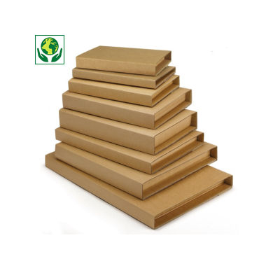 Étui postal pour livres avec fermeture adhésive - brun Raja##Boekverpakking met zelfklevende sluiting bruin Raja