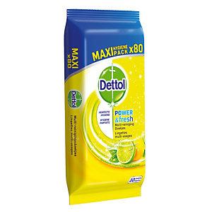 Etui van 80 allesreinigende doekjes Dettol citroen