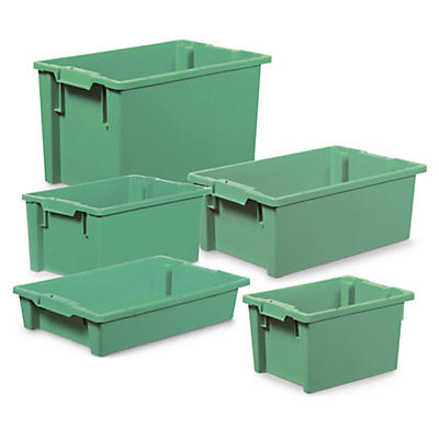 Euro plastic stacking and nesting containers