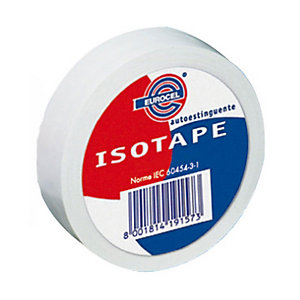 Eurocel® Nastro isolante - Colore Bianco - Dimensioni 19 mm x 25 m