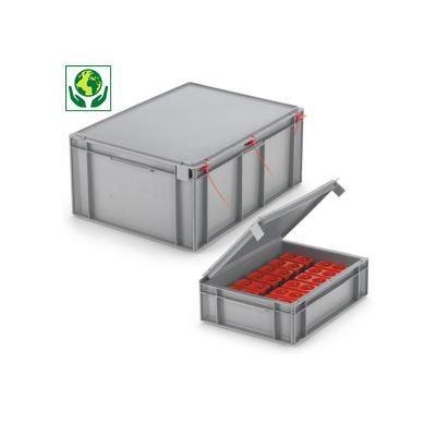 Euronorm Stapelbehälter mit festem Deckel