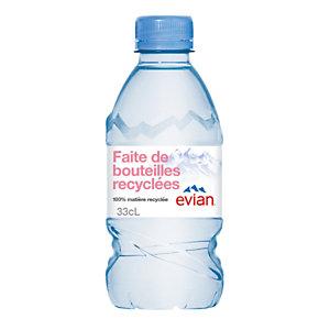 Evian Eau minérale naturelle - Bouteille 33 cl