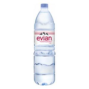 Evian Eau minérale plate 1,5l (Lot 12 bouteilles)