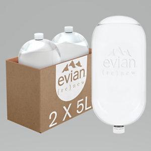 Evian Renew - Bulle d'eau minérale naturelle - Bonbonne de 5 L - Lot de 2