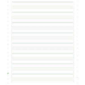 Exacompta 2000 feuilles de listing zoné vert 240x11 1pli Bandes Caroll Non Détachables 60g