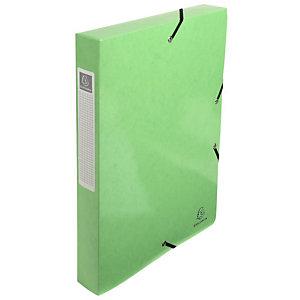 EXACOMPTA 8 Boîtes de classement Iderama A4 350 feuilles Dos de 40 mm Carte avec polypropylène Citron vert
