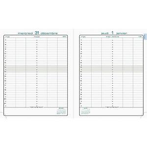 Exacompta Agenda LA JOURNEE PLANIFIEE 22 - 18 x 22 cm - Noir - 2021