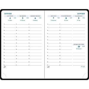 EXACOMPTA Agenda de poche HORIZON 13 - 9 x 13 cm - Noir - 2021