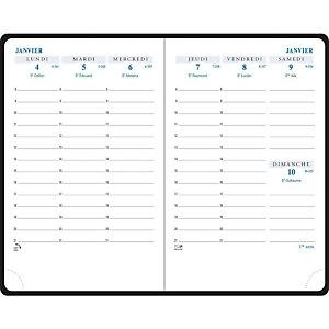 EXACOMPTA Agenda de poche HORIZON 13 - 9 x 13 cm - Noir - 2022