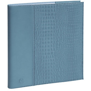 Exacompta Agenda semainier à spirale Eurotime BABY CROCO 22S - 18,5 x 22,5 cm - Bleu clair - 2022