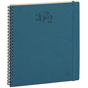 Exacompta Agenda semainier Swan à spirale 22 W - 18,5 x 22,5 cm - Bleu canard - 2022