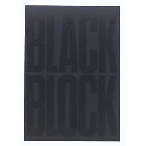 Exacompta Bloc Black block 29,7x21cm - Papier jaune quadrillé 5x5 - 70 feuillets