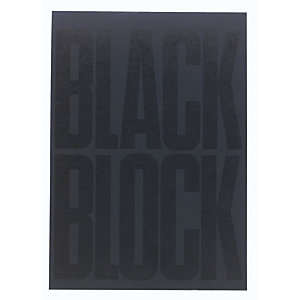 Exacompta Bloc Black block 29,7x21cm - Papier jaune uni - 70 feuillets