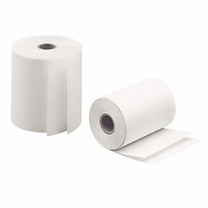 EXACOMPTA Bobine caisse enregistreuse - Papier thermique 1 pli - Largeur 80 mm x Longueur 44 m x Diamètre total 60 mm (Lot de 10)