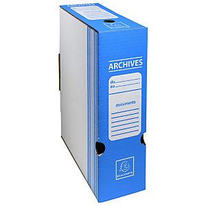 Exacompta Boite archive Dos 100mm carton ondulé couleurs - 25x34cm