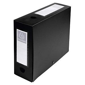 Exacompta Boîte de classement A4 polypropylène - Dos 10 cm - Noir
