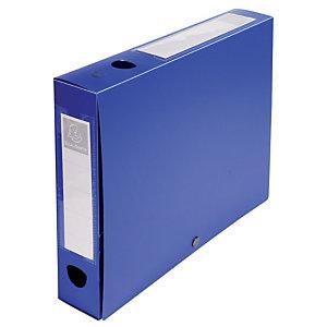 Exacompta Boîte de classement A4 polypropylène - Dos 6 cm - Bleu