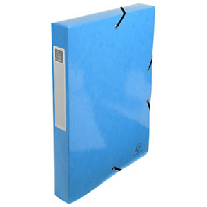 Exacompta Boîte de classement Iderama A4 350feuilles Dos de 40mm Carte avec polypropylène Bleu clair