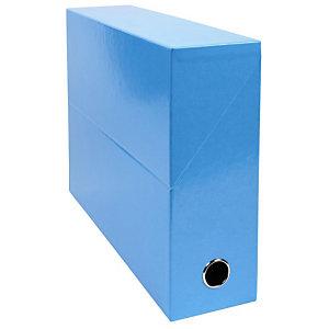 EXACOMPTA Boîte de classement Iderama® en carton, pour 800 feuilles A4 (210 x 297 mm), largeur de dos 90 mm, bleu clair (lot de 5)