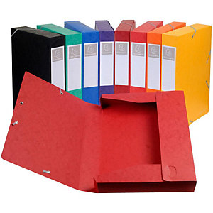 Exacompta Boîte de classement NatureFuture®Cartobox 500feuillesA4 dos 60mm 600g/m² carton comprimé couleurs assorties livrée à plat