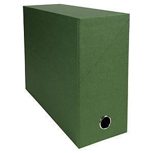 EXACOMPTA Boîte de classement en toile cartonnée, pour 1000 feuilles A4 maximum (240 x 320 mm), largeur de dos 120 mm, vert (lot de 5)