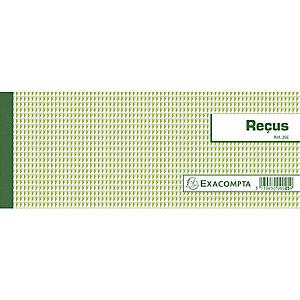 Exacompta Carnet à souche Reçus 50 feuillets - Format horizontal 10,5x27cm