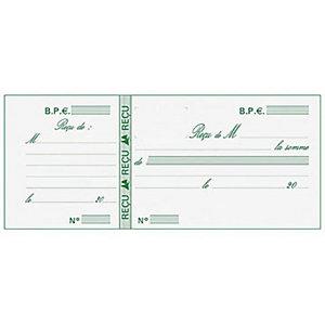 Exacompta Carnet à souche Reçus - Format horizontal 9 x 21 cm - 50 feuilles