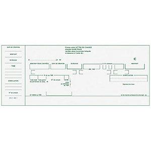 Exacompta Carnet à souche Traites Normalisées NF K 11030 - Format horizontal 10,1 x 21 cm - 50 feuilles