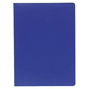 Exacompta Carpeta de fundas A4, 20 fundas rugosas, cubierta flexible suave, azul