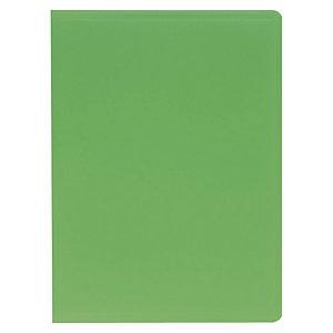 Exacompta Carpeta de fundas A4, 20 fundas rugosas, cubierta flexible suave, verde oscuro