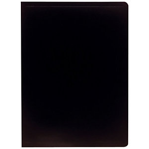 Exacompta Carpeta de fundas A4, 20 fundas rugosas, polipropileno suave, negro