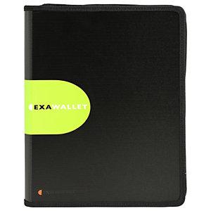 Exacompta Chemise de conférence Exawallet Exactive® avec fermeture éclair et porte-note 34x25x3cm Polypropylène Noir