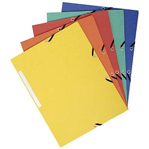 Exacompta Chemise à élastiques 3 rabats carte marbrée recyclée 355g/m2 - A4
