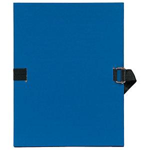 Exacompta Chemise dos extensible sans rabat 24 x 32 cm bleu foncé