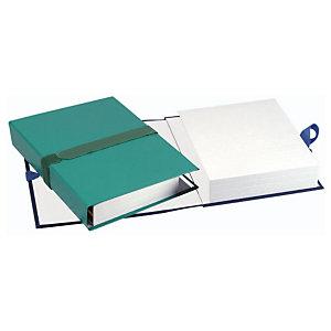Exacompta Chemise extensible à rabat jusque 12 cm, fermeture à sangle, capacité 1000 feuilles A4 - Assortis