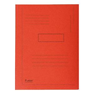 Exacompta ChemiseForever®A4 à 2rabats avec lignes imprimées, 200feuilles, 240x320mm, carton comprimé recyclé, rouge