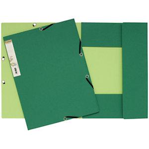 Exacompta ChemiseForever®A4 à 3rabats et à élastiques, 225feuilles, 240x320mm,  carte recyclé, vert foncé