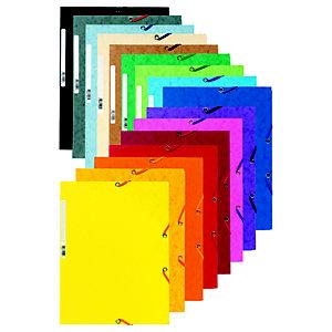 Exacompta Chemise Nature Future® 3 rabats à élastique 250feuilles A4 24 x 32 cm Carton Couleurs assorties