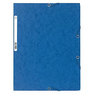 Exacompta Chemise Nature Future® à 3rabats et à élastiques A4 250feuilles 240x320mm en carte bleue