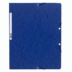 Exacompta ChemiseNatureFuture®A4 à fermeture élastique sans rabat, 250feuilles, 240x320mm,  carte, bleu