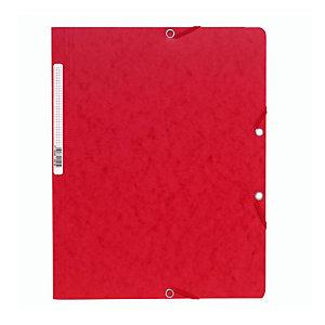 Exacompta ChemiseNatureFuture®A4 à fermeture élastique sans rabat, 250feuilles, 240x320mm,  carte, rouge