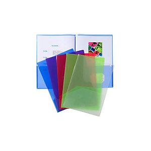 Exacompta Chemise de présentation double poche pour document A4/ A3 - Polypropylène transparent - Assorties