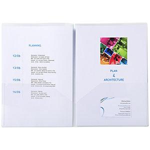 Exacompta Chemise de présentation double poche pour document A4/ A3 - Polypropylène transparent - Cr