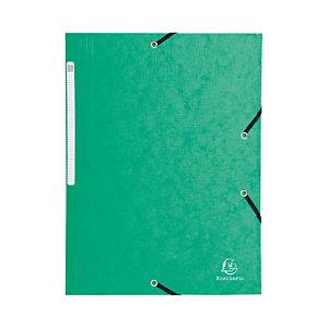 EXACOMPTA Chemise Scotten Nature Future® A4 à 3 rabats avec élastique de retenue, 240 x 320 mm, carton comprimé, vert (Lot de 2)