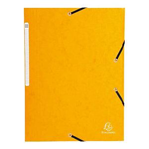 EXACOMPTA Chemise Scotten Nature Future® A4 à 3 rabats et à élastiques 240 x 320 mm en  carte jaune (Lot de 2)